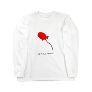 らんちゅう風船 Long sleeve T-shirts