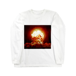 例の爆発 Long sleeve T-shirts