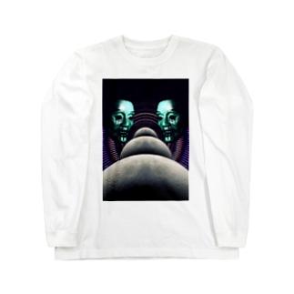 月並び液垂れ Long sleeve T-shirts