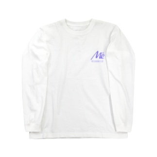 keita屋のMESARION+ロゴ文字切り抜きVer(紫) Long sleeve T-shirts