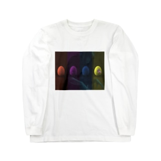 egg輪 Long sleeve T-shirts