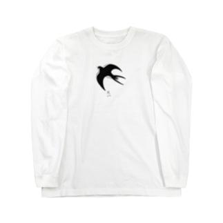 燕(ツバメ) Long sleeve T-shirts