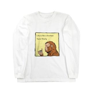Drinking Monkey 酒飲みザルカラーver Long sleeve T-shirts