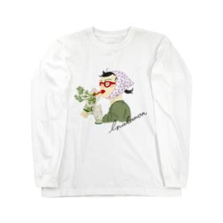 inakamon パープル Long sleeve T-shirts