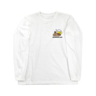 座らんかいウサギワンポイント Long sleeve T-shirts