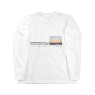桟橋 Long sleeve T-shirts