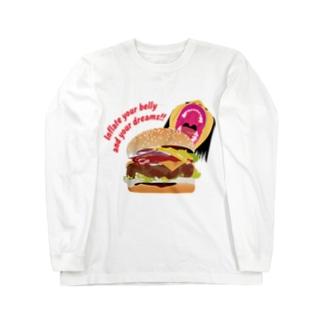 ハンバーガー Long sleeve T-shirts