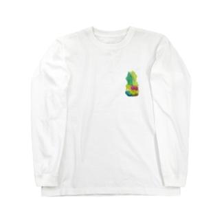 ぱいなっぽーみぎうえ Long sleeve T-shirts
