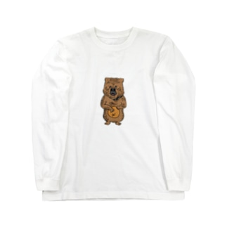 cowardly bear  Long sleeve T-shirts