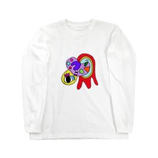 宇宙船から出てきた生物 Long sleeve T-shirts