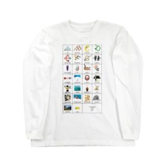 アウトドアアルファベット Long sleeve T-shirts
