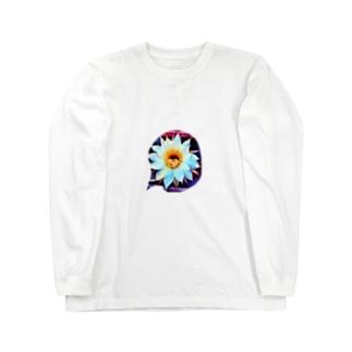 色鉛筆 Life Timeのサボ花 Long sleeve T-shirts