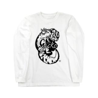 レオパードゲッコーくん(nnnゲッコーズ) Long sleeve T-shirts