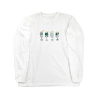春と夏のクリームソーダ Long sleeve T-shirts