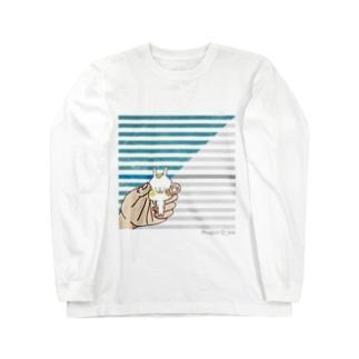 てごろなウサギがいたので掴んでみた Long sleeve T-shirts