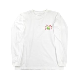 クリームソーダはロックでキュート! Long sleeve T-shirts
