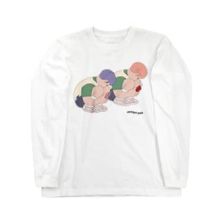 マルガリピンク Long sleeve T-shirts