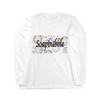 かわいい おしゃれ シャボン玉 シンプル Long sleeve T-shirts