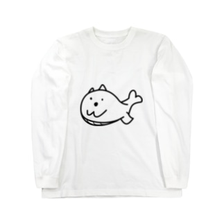 クジラマツモ Long sleeve T-shirts