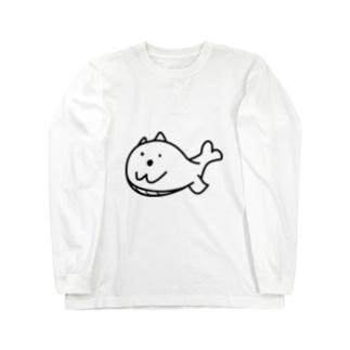 まつものクジラマツモ Long sleeve T-shirts