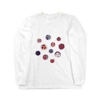 【日本レトロ#24】おはじき Long sleeve T-shirts
