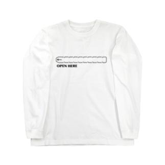 すとろべりーガムFactoryのここから開けてください Long sleeve T-shirts