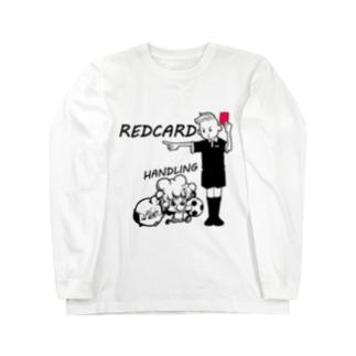 レッドカードさん Long sleeve T-shirts