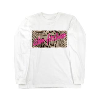 L'dim fashion パイソン柄 ピンク Long sleeve T-shirts