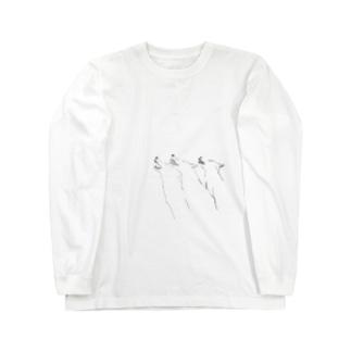 monoshopのオオカミ Long sleeve T-shirts