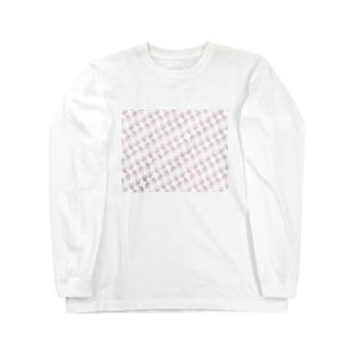 ハムけつ 斜めストライプver. Long sleeve T-shirts