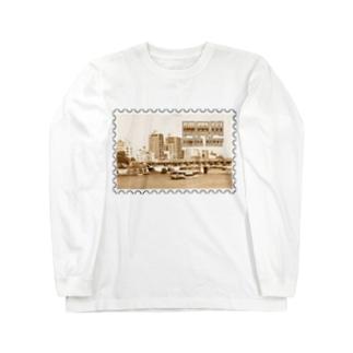 東京都:隅田川と水上バス★白地の製品だけご利用ください!! Tokyo: Sumida river & water bus★Recommend for white base product only !! Long sleeve T-shirts