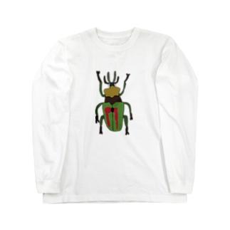 ニジイロクワガタ Long sleeve T-shirts