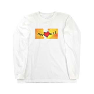 Break your normal / ホワイト Long sleeve T-shirts
