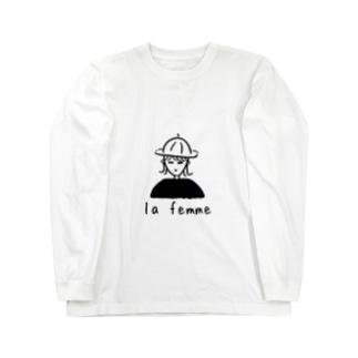 la femme ー女の子ー Long sleeve T-shirts