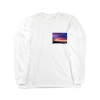 ハワイのサンセット Long sleeve T-shirts
