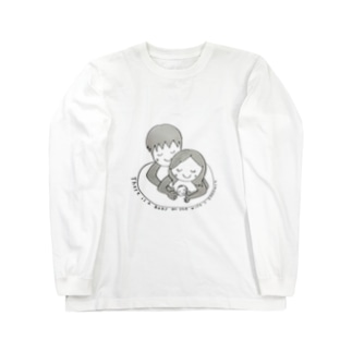 妻のお腹には赤ちゃんがいます☆ Long sleeve T-shirts