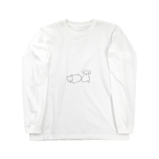 ねこ と いぬ Long sleeve T-shirts