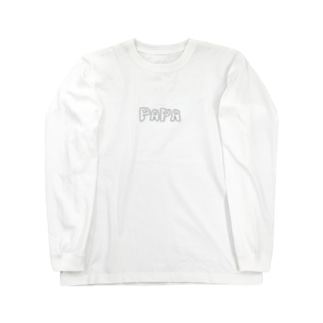 モフモフpapa Long sleeve T-shirts