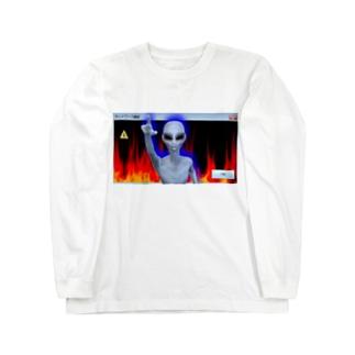 ファイヤー宇宙人まじ卍 Long sleeve T-shirts