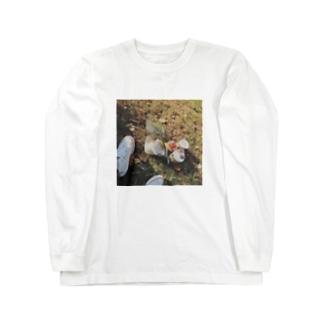 公園での朝食ロンT Long sleeve T-shirts