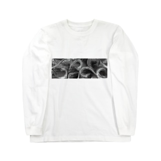 3Dモダン唐草ノート Long sleeve T-shirts