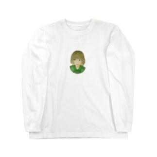 青い目の少女 Long sleeve T-shirts
