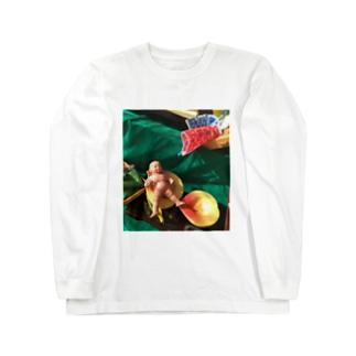 桃から生まれた桃太郎 Long sleeve T-shirts