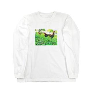 ワイルド チキン Long sleeve T-shirts
