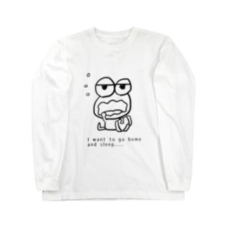 眠りたガエル Long sleeve T-shirts