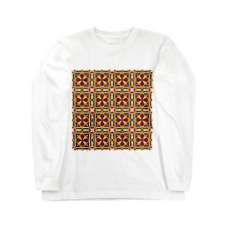 モダンタイルアート  男女兼用 ユニセックス リビング 文具 キッチン スマホカバー 雑貨 Long sleeve T-shirts
