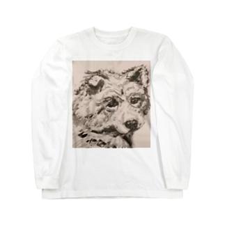 目が語る犬 Long sleeve T-shirts