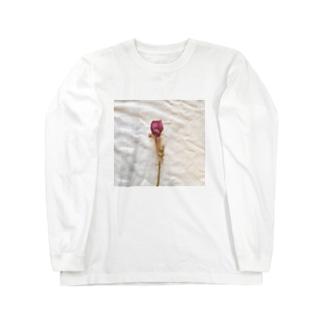 おしゃれ雰囲気のドライフラワー バラ Long sleeve T-shirts