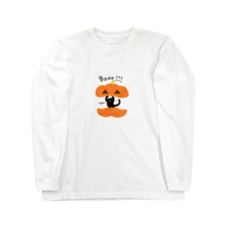かぼちゃねこ Long sleeve T-shirts