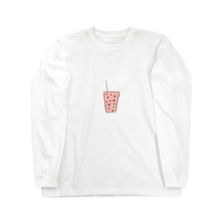 いちごみるくタピオカ Long sleeve T-shirts